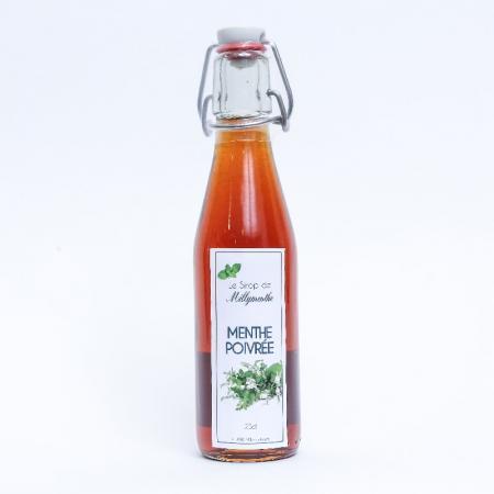 Sirop de menthe poivrée de Milly-la-Forêt - 25cl